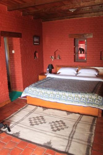 部屋。久々のキレイキレイベッド!!